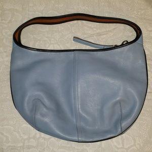 Vintage Coach light blue leather bag